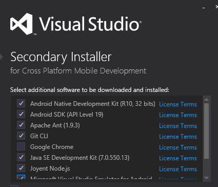 world never be the same, android sdk on Visual Studio
