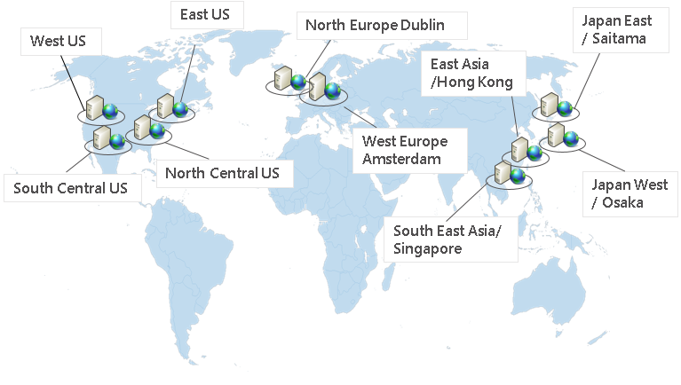 Azure datacenter locations